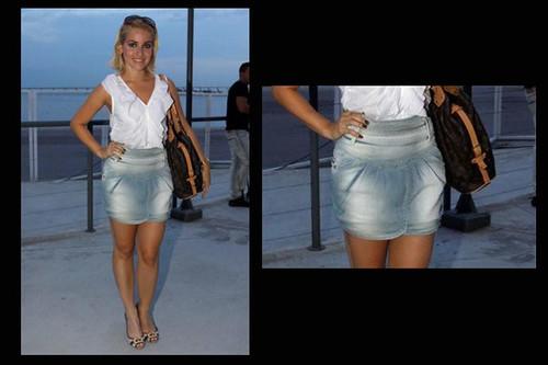 foto de saia cintura alta