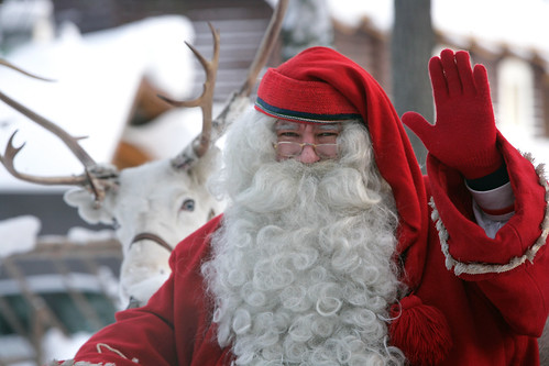Santa Claus Village, Santa and reindeer