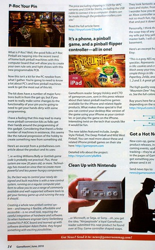 P-ROC in Gameroom Magazine