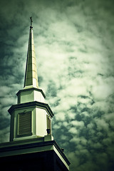 Are you there God?...It's me, Carolyn. (CarolynsHope) Tags: blue sky church clouds steeple ill tick sickness emotional sick suffering emotions disease lyme feelings hardtimes lymedisease