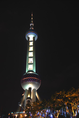 m155 - Oriental Pearl TV Tower at Night