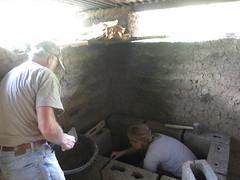 Adding Mortar to the Stove!