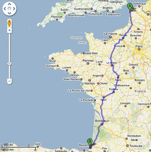 Boulogne to Biarritz