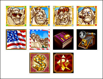 free Rushmore Riches slot game symbols