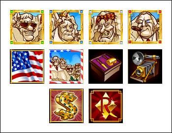 free Rushmore Riches slot game symbols