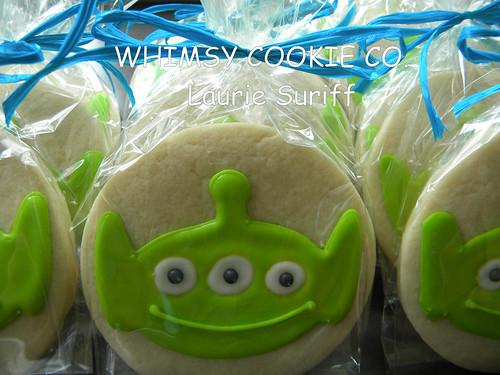 Little Green Men Cookies