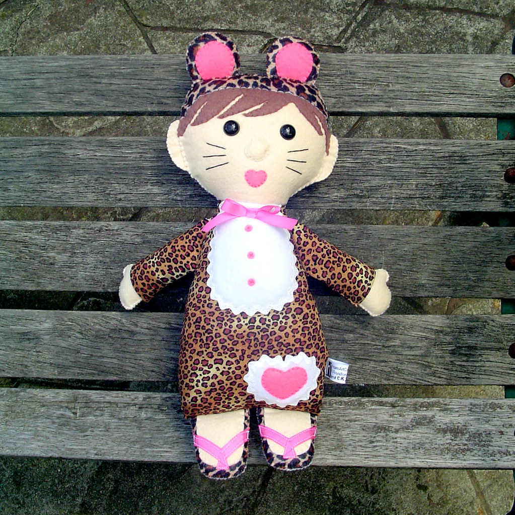 """Costumed Kids"" doll in Cheetah outfit"