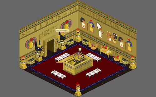 Egypt - Pharaoh's chamber - room view