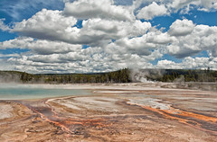 A Place Called Yellowstone (Jeff Clow) Tags: nature clouds landscape raw unique yellowstonenationalpark yellowstone remote unusual wyoming hotsprings gar primitive geysers 1exp mywinners jeffrclow topazadjust