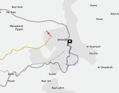 Yahoo Maps Jerusalem Split