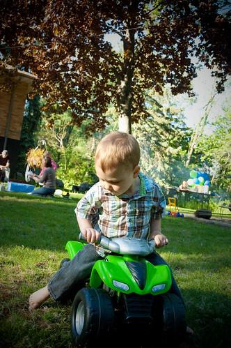 Loves the 4-wheeler
