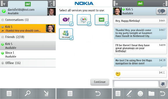 Nokia Messaging para IM