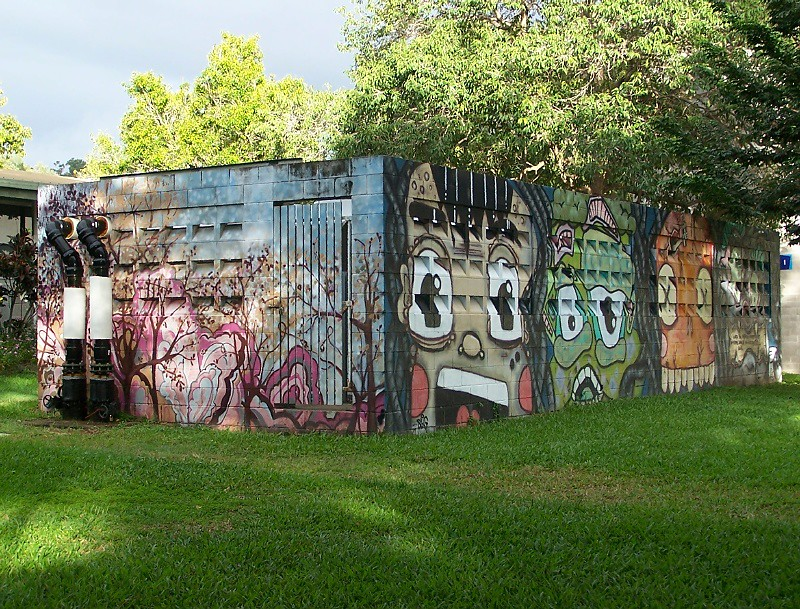 Mural at James Cook University