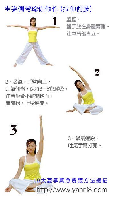 10大夏季緊急瘦腰方法絕招教你如何瘦腰瘦小腹游泳圈瑜珈運動