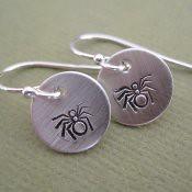 Tiny Spider Earrings