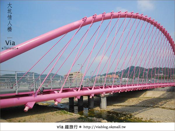 【大坑情人橋】新的台中約會景點~浪漫粉紅色情人橋19