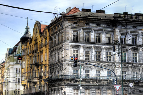 A jewish quarter street. Prague. Una calle del barrio judío. Praga