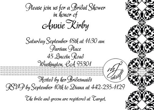 Art Deco Bridal Shower Invitations