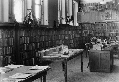 Interior of Woodstock Public Library - 1935 by WoodstockPublicLibrary