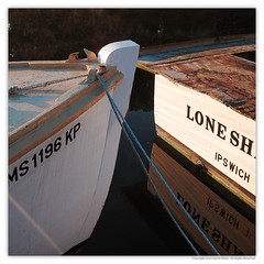 lone sh ipswich (stoneystone68) Tags: reflection water boats rope
