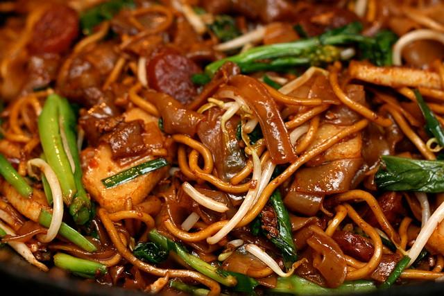 Homemade char kway teow