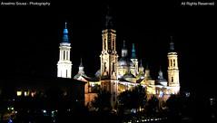 Espanha - Zaragoza - A Baslica de Nossa Senhora del Pilar,  uma das duas baslicas na cidade de Zaragoza, e  tambm a Catedral da cidade ao lado da vizinha Catedral La Seo (Anselmo. Sousa) Tags: cidade arquitetura pilar flickr basilica catedral unesco mundial mil patrimonio noites blinkagain
