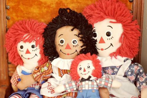 Vintage Raggedy Ann & Andy Dolls