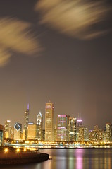 Cloud Drifts O'er Da City..... (Seth Oliver Photographic Art) Tags: chicago reflections illinois nikon midwest skyscrapers cityscapes lakemichigan nightshots trumptower chicagoatnight pinoy downtownchicago nightscapes autumninchicago urbanscapes 30secondexposure longexposures starbursts chicagoist d90 nightexposures wetreflections sooc moderncities autumnseason shutterspeedpriority aperturef8 brightcitylights clouddrifts cityafterdark setholiver1 tripodmountedshot nocturneimages 35mmafsnikkor18primelens
