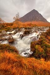 Coupall Falls (ukstairs) Tags: autumn water rain clouds river scotland waterfall highlands argyll perthshire glencoe rhyolite westhighlandway buachailleetivemor coupallfalls cauldronsubsidence