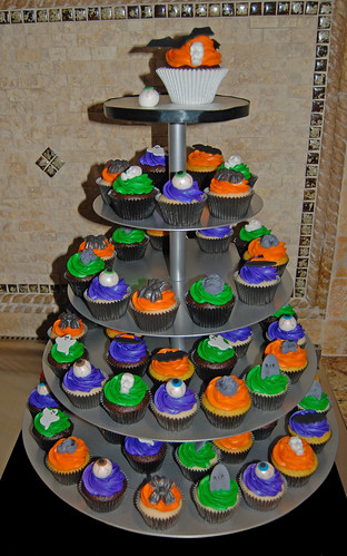 Halloween Birthday Cupcake Tower