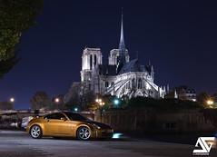 Nissan 350Z (A.G. Photographe) Tags: paris france monument seine japanese nikon nissan notredame cathédrale nikkor dame quai français parisian japonais anto xiii parisien japonaise 2470mm28 d700 antoxiii niassan350z