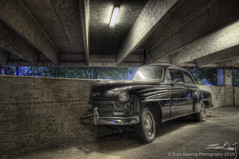 Half '52 Chevy Deluxe (Evan Gearing (Evan's Expo)) Tags: auto chevrolet car nikon automobile garage parking chevy 18200 hdr 1952 d300s evangearingphotography evansexpo