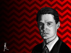 Cooper, Agent (Johann Dakitsch) Tags: twin peaks tribute fanart agent cooper damn good coffee dale david lynch tv portrait realistic painting digital