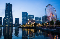 Yokohama (Pop_narute) Tags: yokohama tower highrise city bay night life cityscape japan
