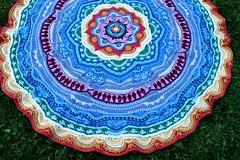 2017.06.27. part 17 3156m (villanne123) Tags: 2017 mandalamadness mandala crochetmandala crochet crocheting villanne virkattua virkattu virkattumandala schachenmayrwool125 part18done interior blanket peitto
