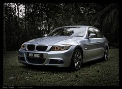 _G11_IMG_0192 copy (mingthein) Tags: blue car sport canon availablelight powershot m malaysia bmw vehicle ming 2009 g11 e90 lci onn 320d thein photohorologer mingtheincom