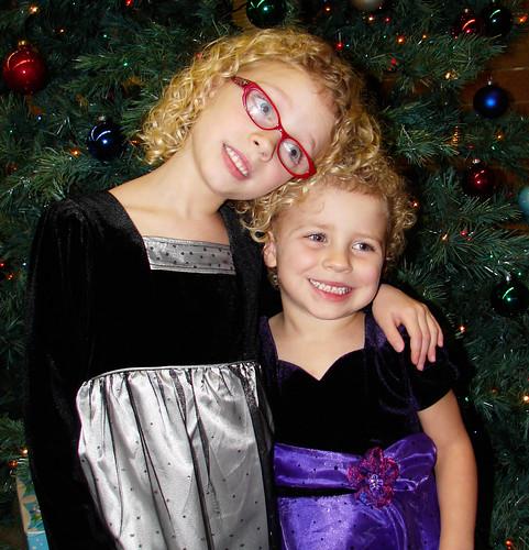Sisters at Christmas Program