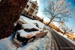 unfortunate mercedes (ericbowers) Tags: winter car midwest crash snowstorm kansascity missouri mercedesbenz wreck blizzard 2009 totalled westplaza ericbowers