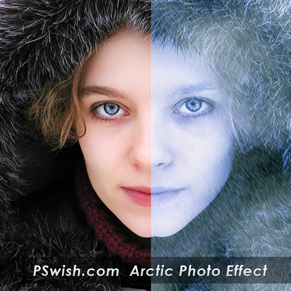 Arctic Face Photo Effect