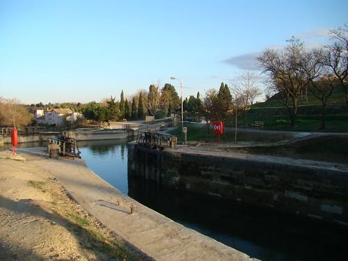 Carcassonne->Montpellier(參觀某運河)