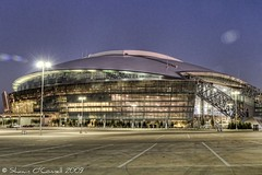 Cowboy Stadium at Night (Shawn O'Connell Photography) Tags: color cowboys night arlington nikon texas stadium dallascowboys hdr deathstar d90 jerryjones shawnoconnellphotography cowboysstadiumatnight