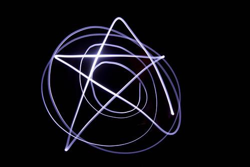 light painting star