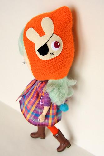 MforM Orange Pirate Bunny Hoodie