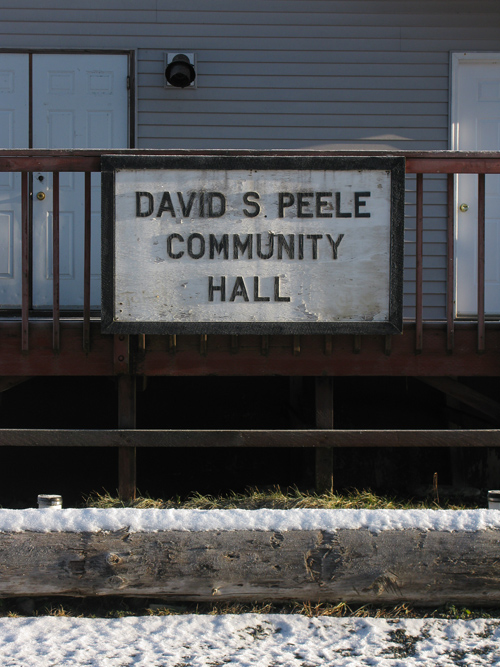 the sign on the community hall, Kasaan, Alaska