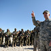 Lt. Gen. Caldwell briefs Afghan National Army (ANA) soldiers at an ANA camp