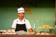 capitolio hot dog man (flamed) Tags: portrait food country fastfood havana cuba hamburgers burgers chef takeout hotdogs capitolio fastfoods awaymustardhamdodgy