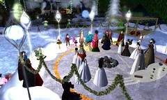 Avilion - Yule Ceremony (Osiris LeShelle) Tags: life winter friends ice shrine ceremony medieval secondlife second yule wintertime druids roleplay druidry awen yuletime avilion