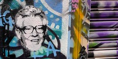 Rolf Harris Stencil by Chip (cgs327) Tags: street art up graffiti stencil alley paste melbourne rolf lane chip laneway harris