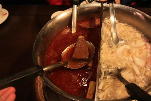 麻辣鍋的湯頭真好!