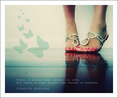 Quote of the Day (Teka e Fabi) Tags: love feet topf50 quote amor butterflies madness ps phrase ih borboletas frase nietzche frasedodia quoteoftheday tekaefabi lovely~lovelyphoto aboutmadness